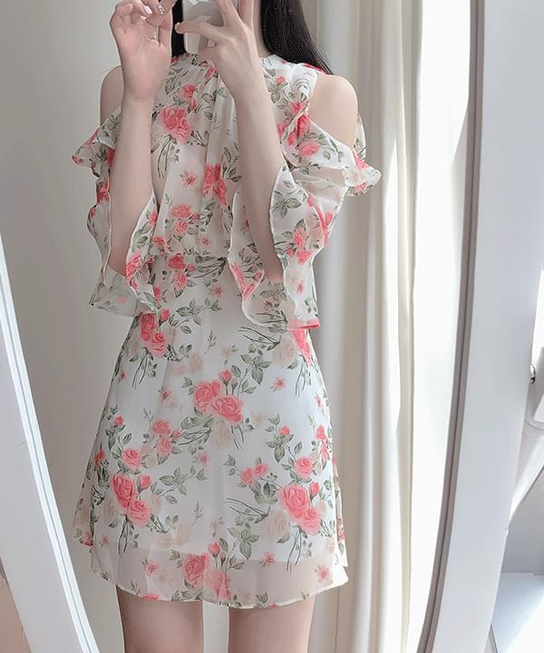 Alena floral off dress 洋裝