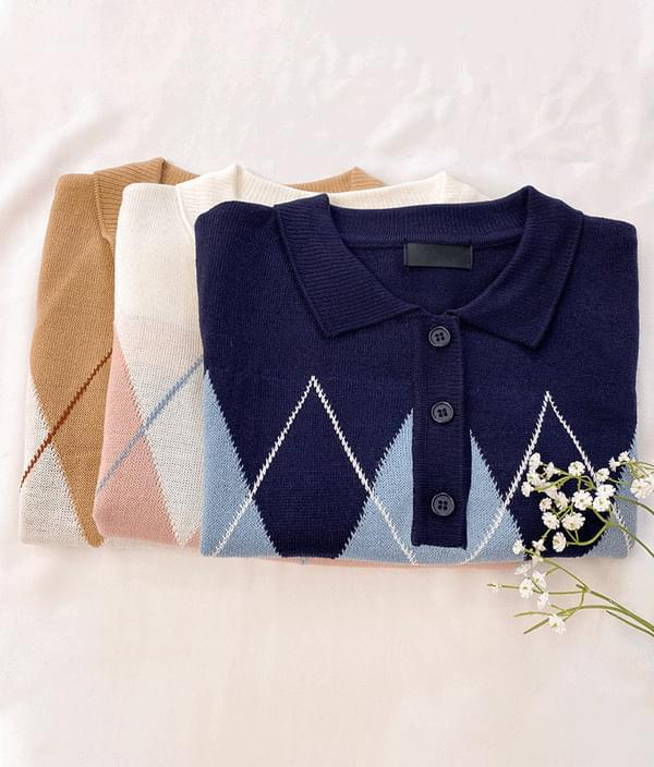 Argyle summer knit
