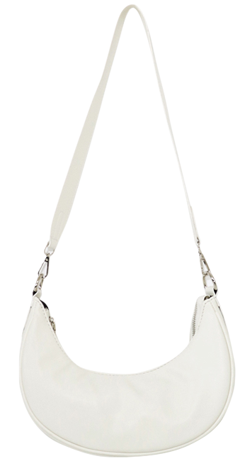 Slow half moon leather shoulder bag