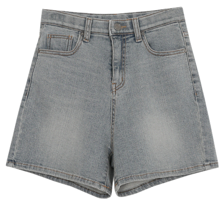 Gracie Blue Shorts-(ver. Secret Banding/3.5 Part Shorts)