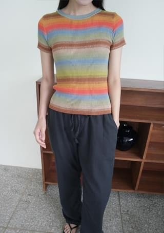 color combine half knit