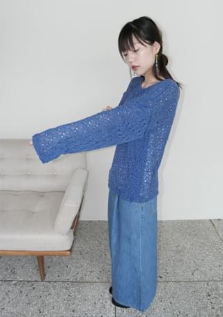 rusk color knit top (3colors)