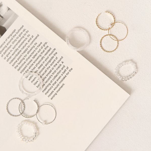 LUVIN LAYERED RING 5 SET