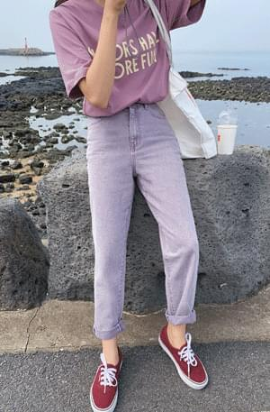 Purple Dingjin Boy Fit Pants