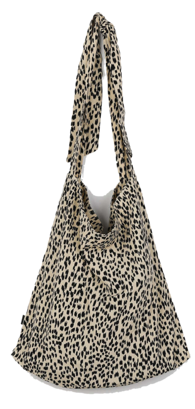 Leopard tie shoulder bag