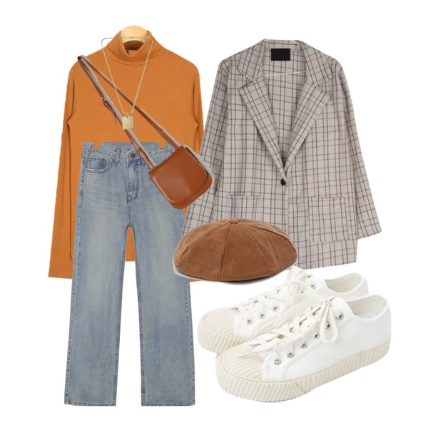 daily monday Simple every day sneakers,daily monday Groovy corduroy beret,common unique BRIGHT STRAIGHT DENIM PANTS등을 매치한 코디