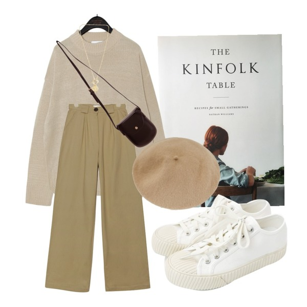 daily monday Simple every day sneakers,Zemma World MA-Buttering (bag,TWEE(O) 울 베레모등을 매치한 코디