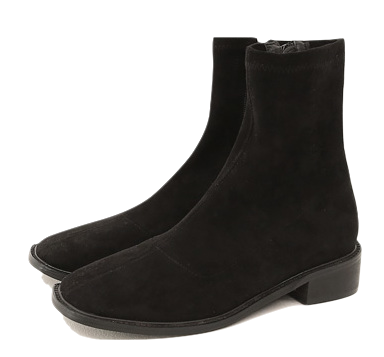 WOREN SQUARE ANKLE BOOTS