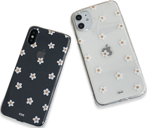 Small Flower Daisy Flower Jelly Transparent iPhone Case
