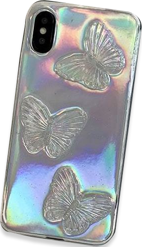 Butterfly Aurora Gradient Transparent Jelly iPhone Case