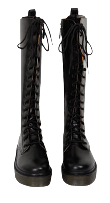 Roden lace-up long boots