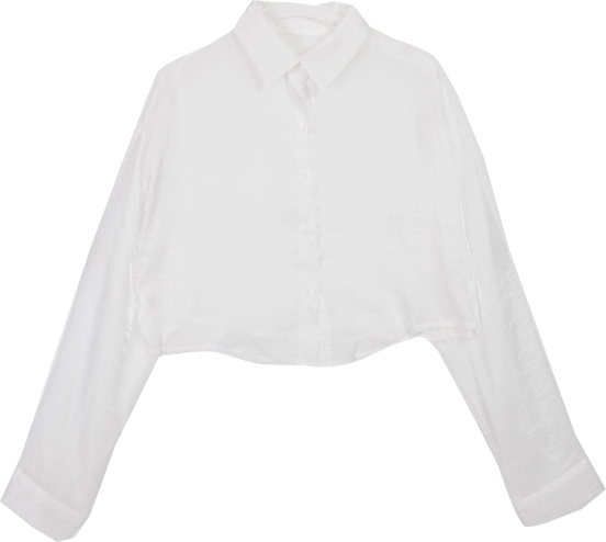 Pearl cropped shirt ブラウス