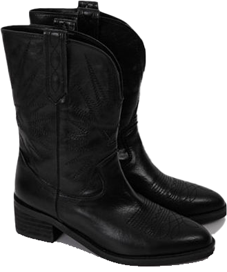 Lead middle western boots