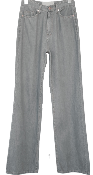 straight soft denim pants