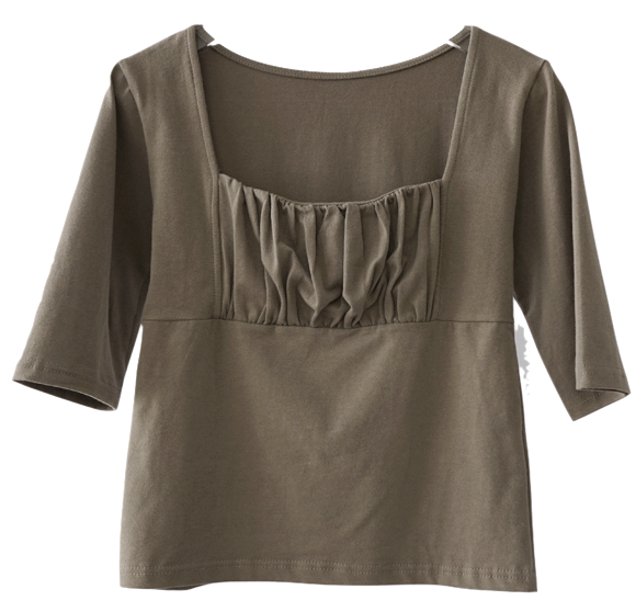 square neck shirring top