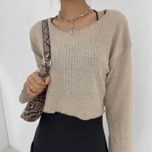 See-through autumn boxy knit