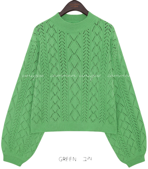 COCO PUNCHING HALF NECK KNIT