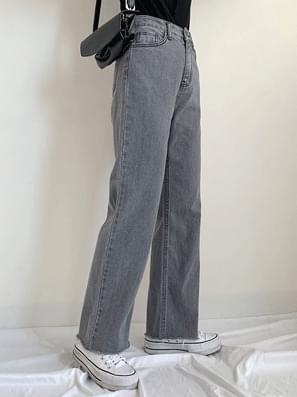 Undercut Gray Denim Pants