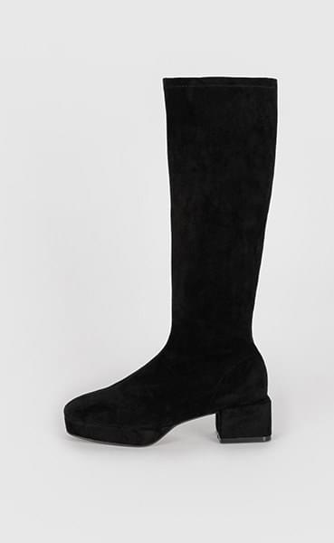 Max suede middle-heel long boots 靴子