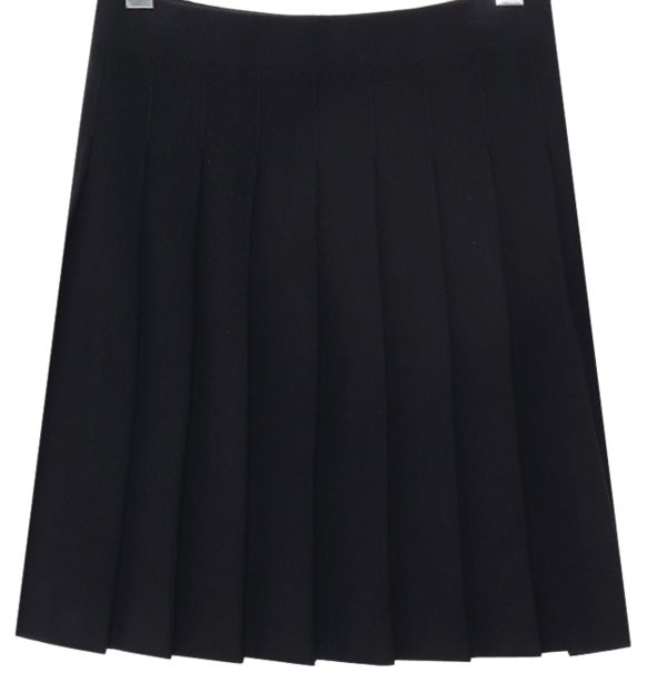 Pleated knit mini skirt
