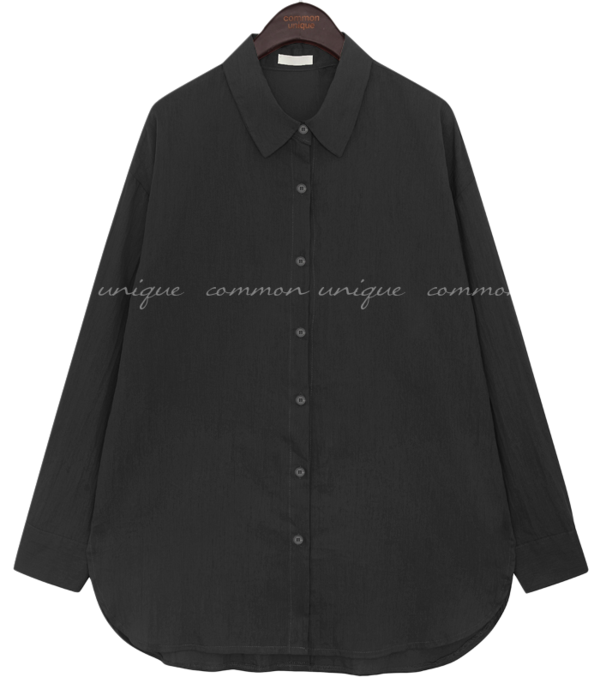 BRUN BACK BUTTON UNBAL SHIRTS