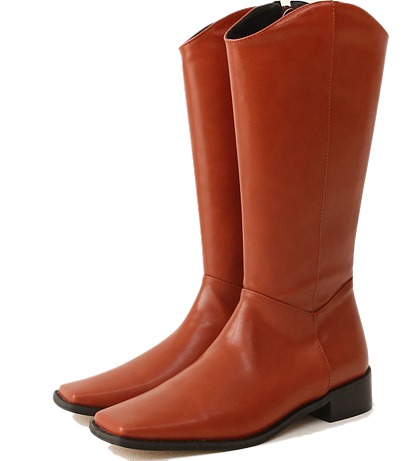 LENITY SQUARE WESTERN LONG BOOTS