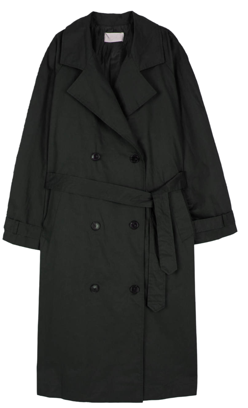 Moment Unbald Cape Trench Coat