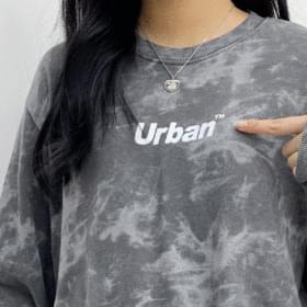 Urban tie-dye cropped sweatshirt Long Sleeve