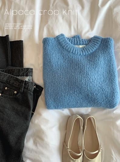 Alpaca crop knit