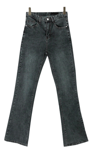 Flared Earth Long Denim Pants