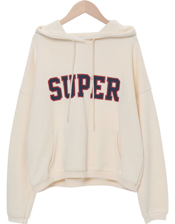 Super Lettering Hooded Man-to-Man