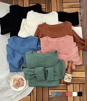 Caramel Loose Fit Round Neck Knit