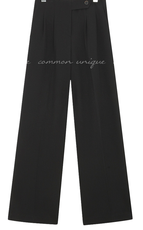 MOCHI BUTTON WIDE SLACKS - 2 TYPE