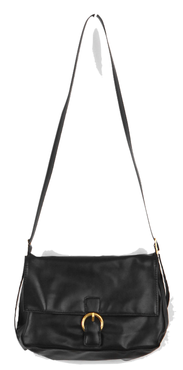 Gold buckle square crossbody bag