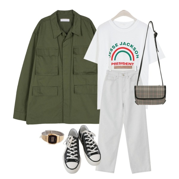 From Beginning CASIO LA670WGA-1DF,AFTERMONDAY basic casual color sneakers (10colors),somedayif 유니섹스 카라 포켓 코튼 재킷등을 매치한 코디