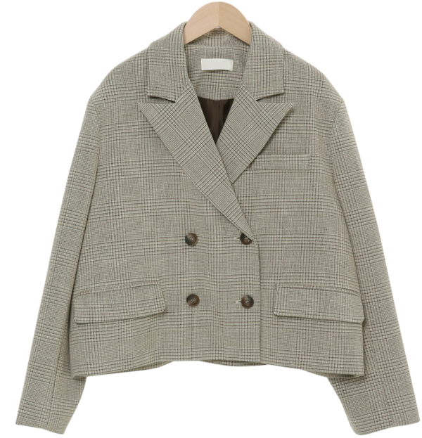 Leon checked tailored jacket
