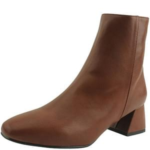Thick Heel Chunky Ankle Boots Brown