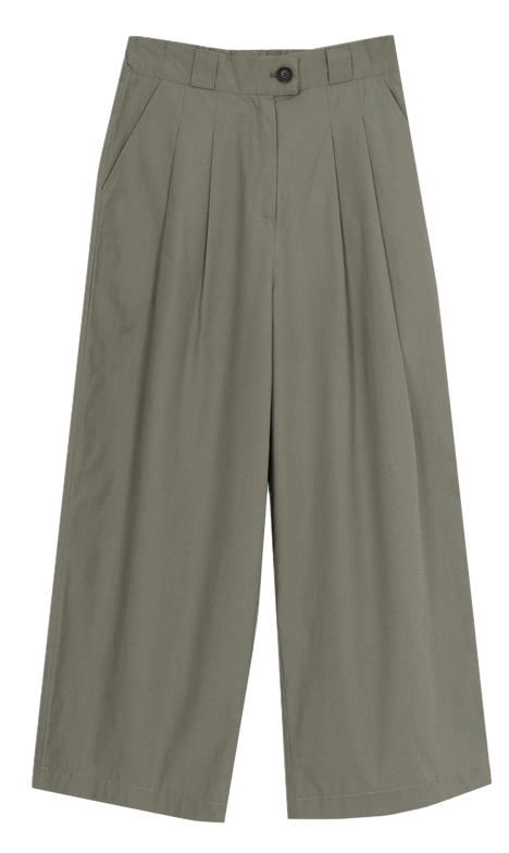 Nature Pin Tuck Chino Pants-Same Day Delivery ♥ (ver. Back Banding)