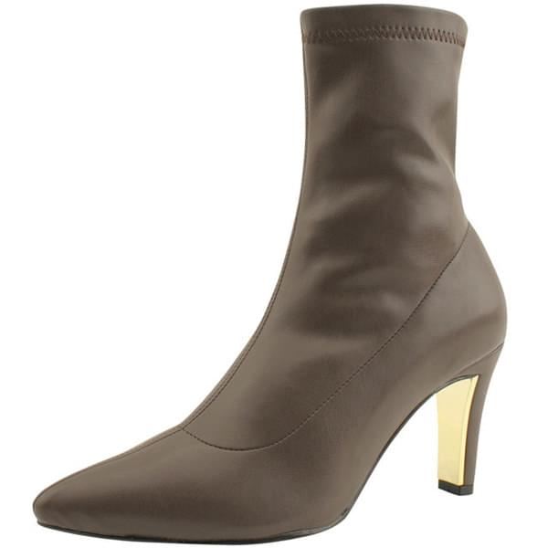Stiletto High Heels Span Ankle Boots Brown