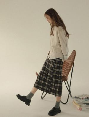 Soho Side Split Check Long Skirt スカート