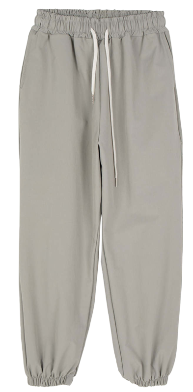 With nylon jogger track pants