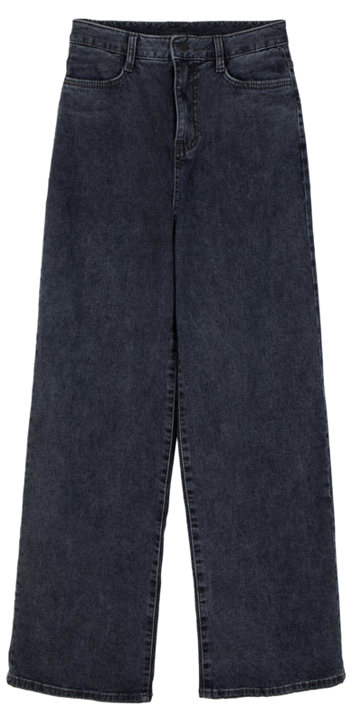 Scsi high-rise wide jeans