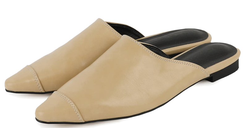 Modic point flat mules