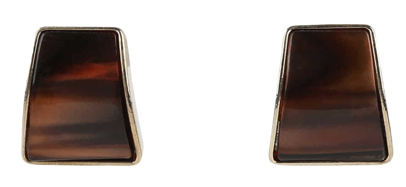 Colmine marbling square earrings