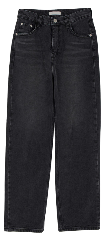 Black dying straight jeans