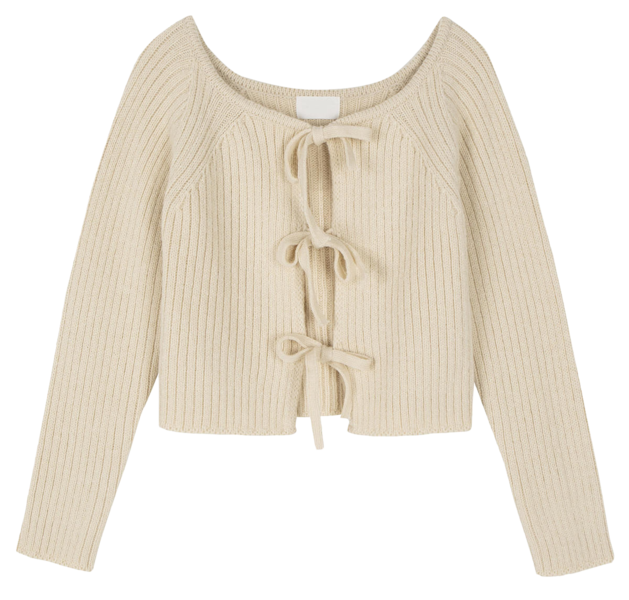 Two-way lovely knit cardigan