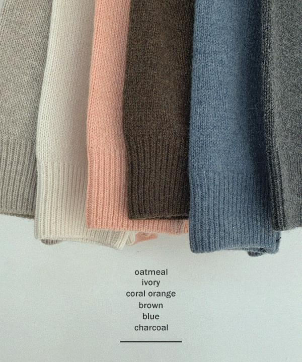 New Popo Loose Fit Ramswool Round Knit * 針織衫