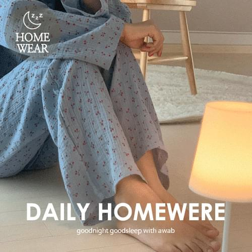 #homewear_homewear:Cozy cherry pajama set