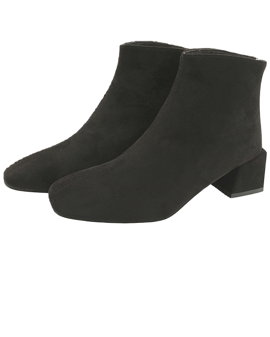 Suede Middle Heel Simple Ankle Boots 5cm