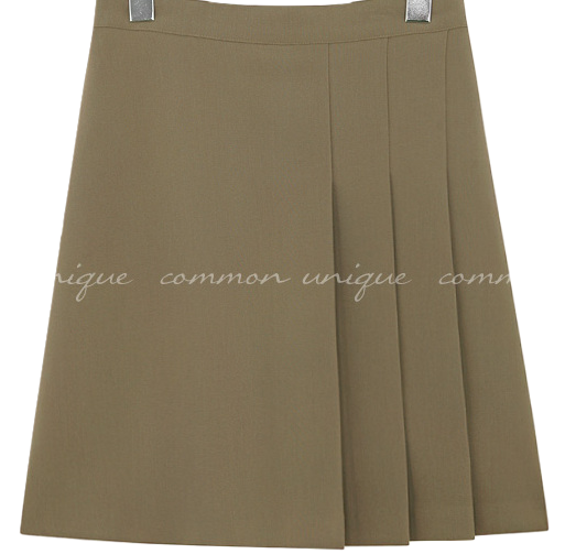 MOAMI UNBAL PLEATS MINI SKIRT